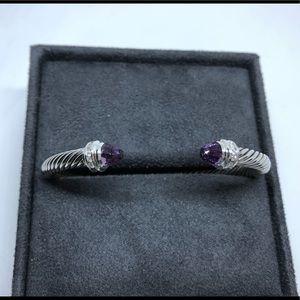 David Yurman Bracelet with Amethyst /Diamonds, 5mm